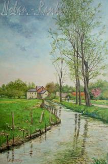 Spring rain - Bec Helloin | Manes Lichtenberg | Nolan-Rankin Galleries - Houston