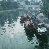 Peniches du Pont des Arts | Paul Jean Anderbouhr | Nolan-Rankin Galleries - Houston