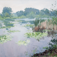 Les Nenuphars (water lilies) | Paul Jean Anderbouhr | Nolan-Rankin Galleries - Houston