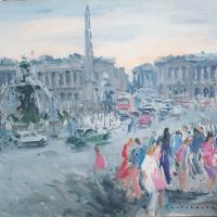 Place de la concorde | Paul Jean Anderbouhr | Nolan-Rankin Galleries - Houston
