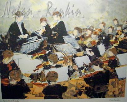 lithograph | Concert | Renee Theobald | Nolan-Rankin Galleries - Houston