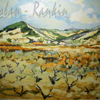 lithograph | Devant les Vignes | Renee Theobald | Nolan-Rankin Galleries - Houston