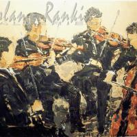 lithograph | Quatour Cordes | Renee Theobald | Nolan-Rankin Galleries - Houston
