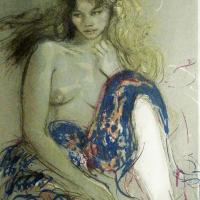 Pecnard | Femme Tricolore | lithograph | 21.5 X 28 inches | Nolan-Rankin Galleries - Houston