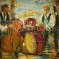 "JAZZ NR1412 80 Figure: 57.5"" x 44.75"" Conchita Conigliano Oil on Canvas | Nolan-Rankin Galleries - Houston"