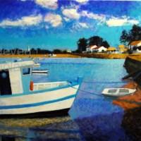 "Atlantique Mindin | NR2467 | 30 Figure: 36.25"" x 28.75"" | Pierre Neveu | Oil on Canvas | Nolan-Rankin Galleries - Houston"