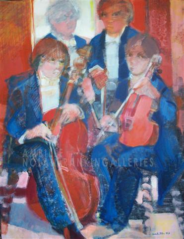 La Pose NR2616 30 Figure: 36.25 in. x 28.75 in. Paul Ambille - 2003 Oil on Canvas   Nolan-Rankin Galleries - Houston
