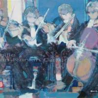 "Petits Musiciens NR3259B 10 Paysage: 21.5"" x 14.75"" Paul Ambille Oil on Canvas | Nolan-Rankin Galleries - Houston"