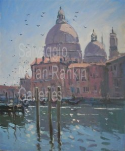 "Venise NR3507 25 Figure: 31.75"" x 25.5"" Jose Salvaggio Oil on Canvas"