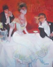 Vive le Champagne NR3543A 20 Figure: 28.75 in. x 23.50 in. Paul Ambille - 2008 Oil on Canvas