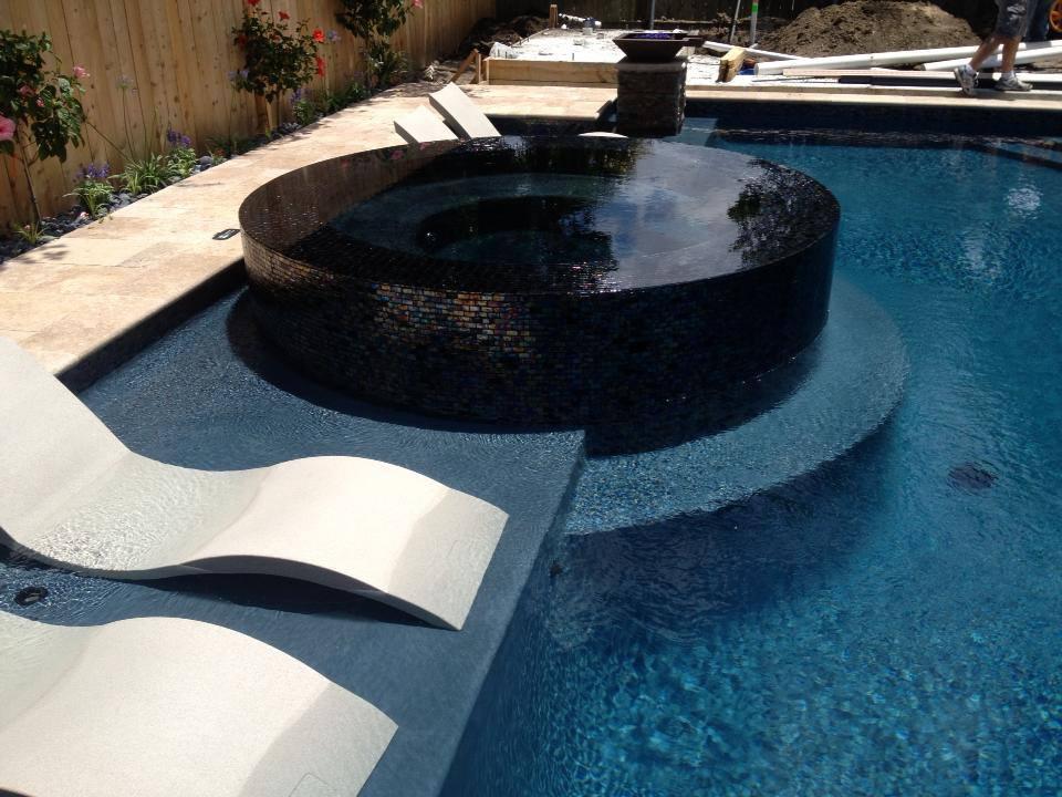 Pool and spa in Metairie by Crystal Pools  Crystal Pools