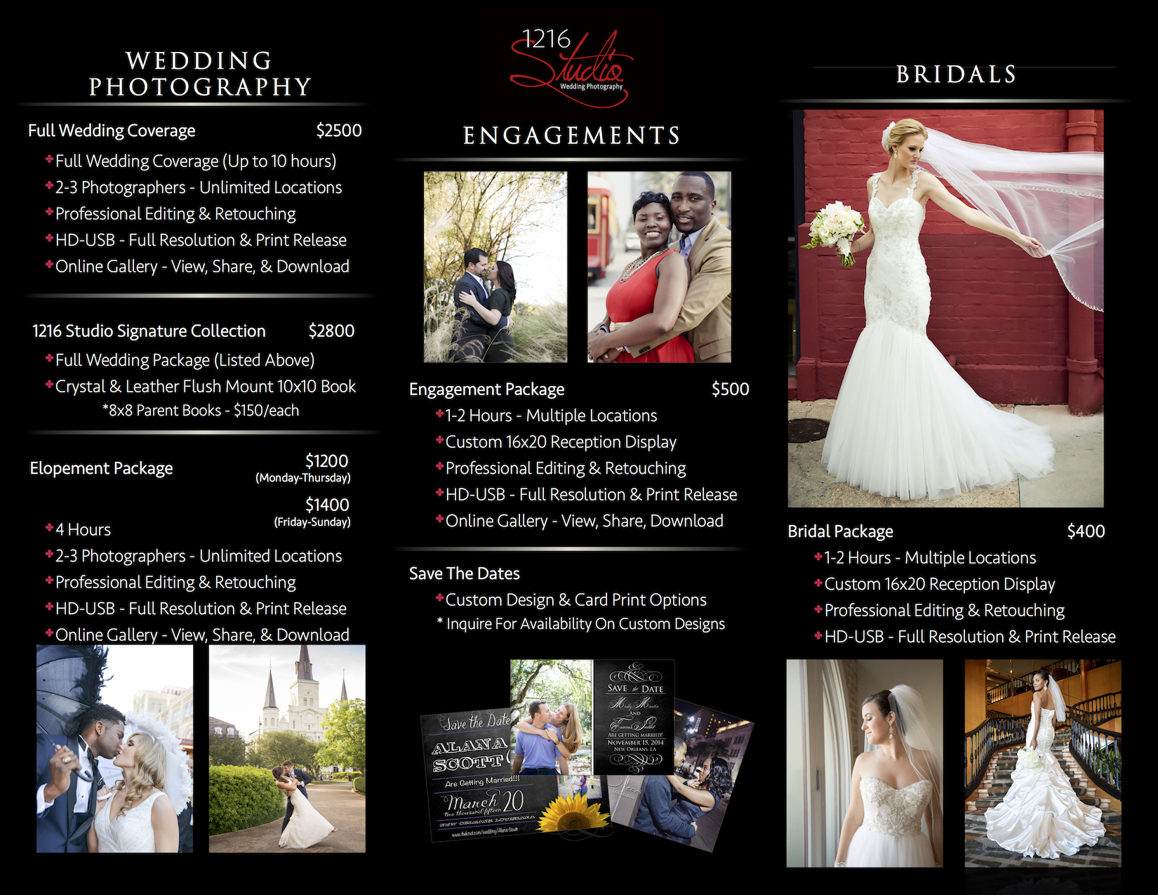 Wedding Packages Prices Wedding Photography