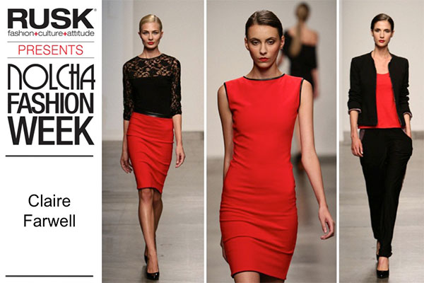 Runway Recap: Claire Farwell London at Nolcha Fashion Week: New York presented by RUSK SS14
