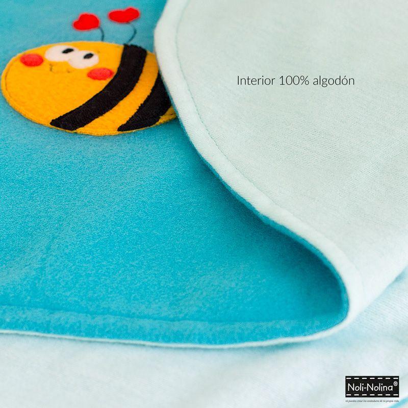 manta para bebé con interior de 100% algodón