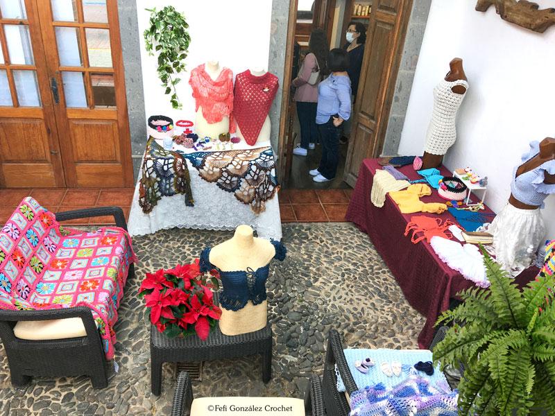 Exposición de Fefi González Crochet en La Tiendita