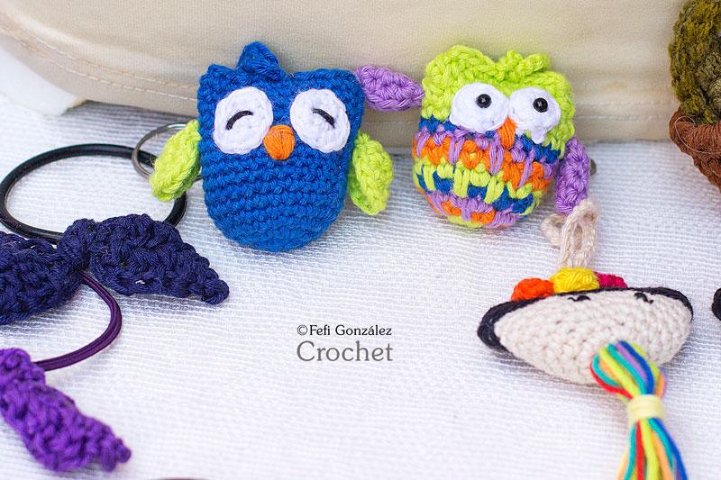 Llaveros Búhos Fefi González Crochet