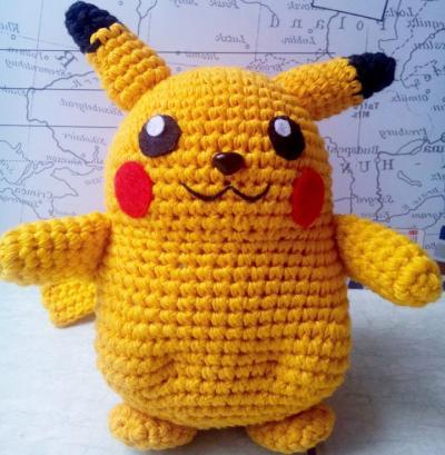 Dạy cách móc thú bông pikachu bằng len cho bé yêu