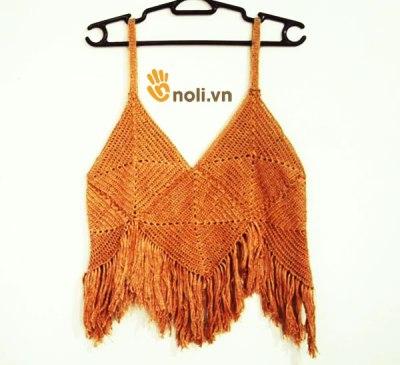 Chart móc croptop len đẹp mê li cho bạn đi dạo biển