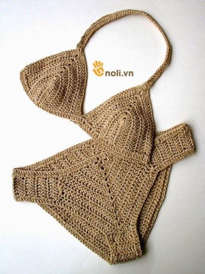 Chart móc bikini bằng len cho cô nàng sành điệu