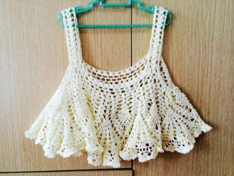 Học cách móc áo crop top bằng len siêu dễ thương