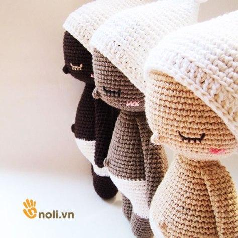 Học cách móc búp bê Hoki bằng len sợi
