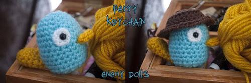 [Hướng dẫn móc] Làm móc khóa len chim Perry mà ai cũng thích