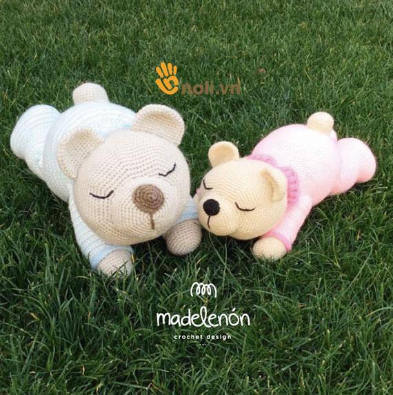 Hướng dẫn móc gấu Sleepy Cỡ Bự cho bé yêu ôm đi ngủ