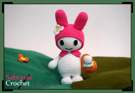 Chart thỏ Melody cầm giỏ dạo chơi vườn hoa