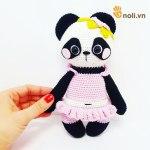[Hướng dẫn móc] Chart móc gấu panda nele bằng len sợi