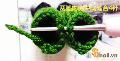 Học cách móc chú công an bằng len sợi