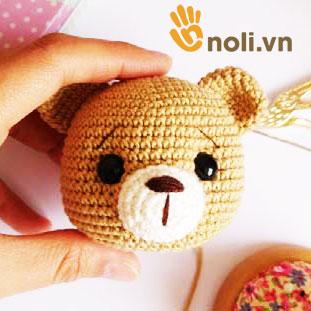 Chart móc gấu Teddy ngộ nghĩnh của nhà thiết kế Tiny Mini