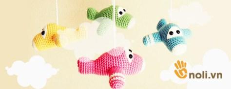 Học cách móc treo nôi cho em bé bằng len sợi