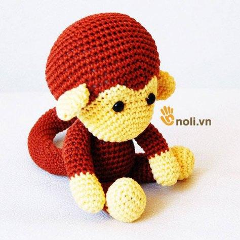 Hướng dẫn móc con khỉ xinh xắn đáng yêu