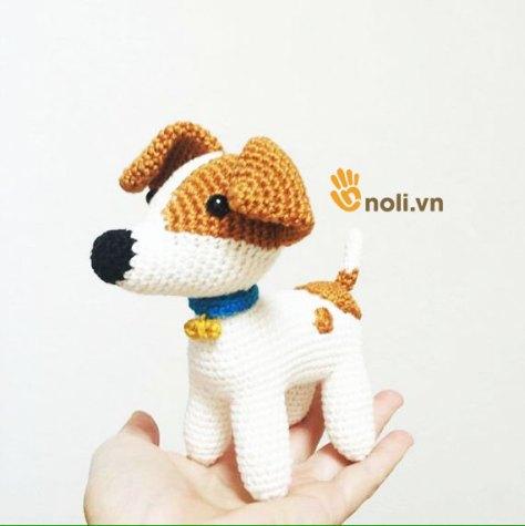 Chart móc chú chó Jack xinh đẹp của nhà thiết kế Pica Pau