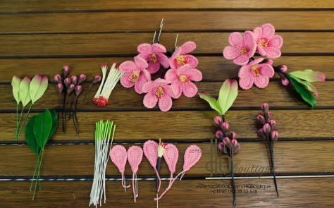 Hướng dẫn móc hoa đào ngày tết