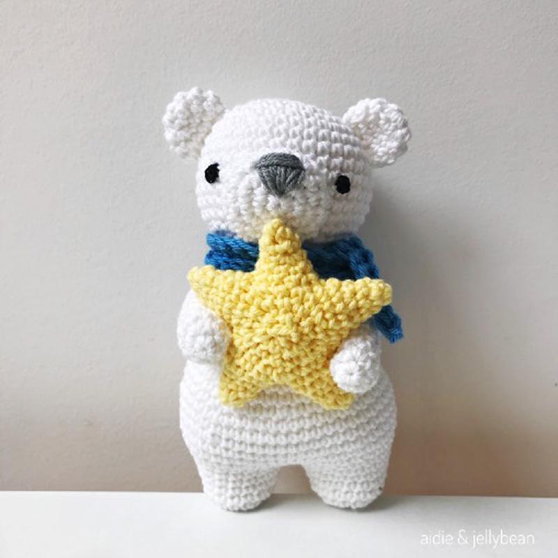 Hướng dẫn móc Polar - Bé gấu ôm sao đáng yêu
