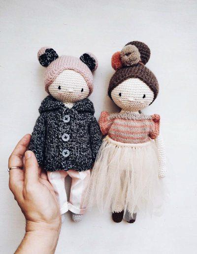 Móc cặp đôi búp bê siêu ngọt của tác giả Diana Patskun