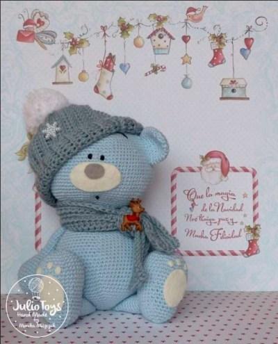 Móc mẫu gấu Teddy quàng khăn siêu dễ thương