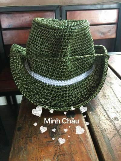 Hướng dẫn móc mũ cao bồi cho bé trai của tác giả Minh Châu