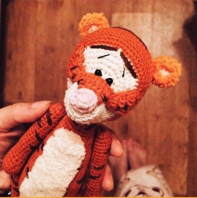 Móc mẫu hổ Tiger của tác giả Alina Yapaeva AlinetToys