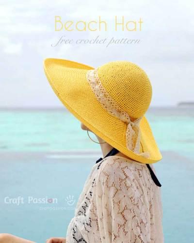 Hướng dẫn móc mũ vành rộng đi biển