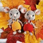 Hướng dẫn móc chart chuột mặc quần yếm của tác giả JM_CROTOYS (người dịch Bông's Crochet)