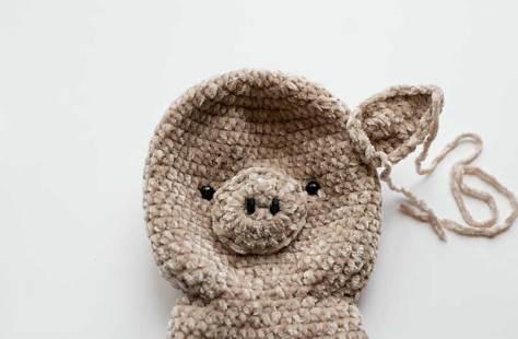 Học cách móc heo bằng len nhung