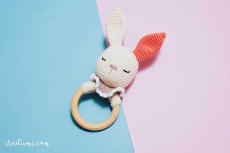 Hướng dẫn móc lục lạc thỏ trắng xinh xắn