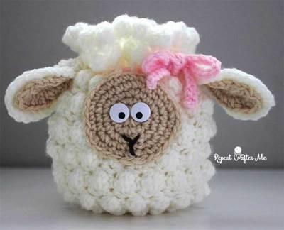Móc túi đựng lì xì cho bé hình con cừu