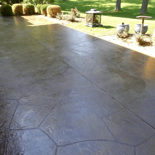 power washing and concrete sealing a back patio look how that stamped concrete shines