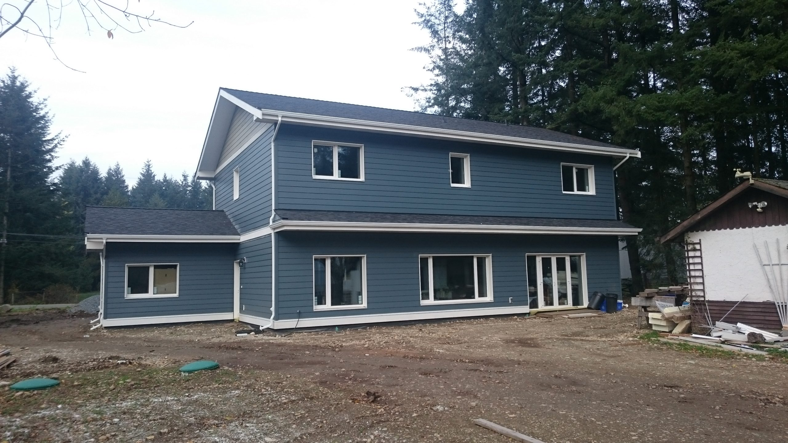 new construction aluminum gutters installed