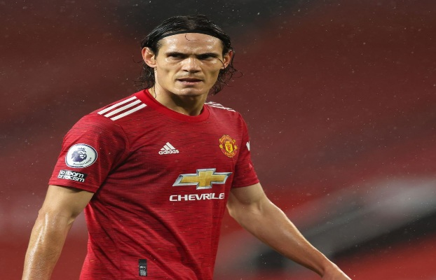 Edinson Cavani playing in his Manchester United debut versus Chelsea