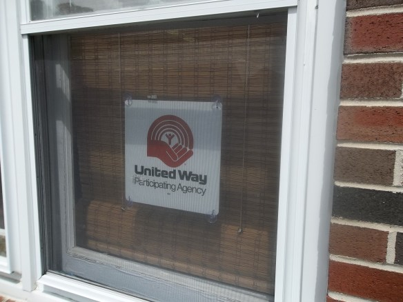 We are happy to have the United way to help us out...feelin' the love!!