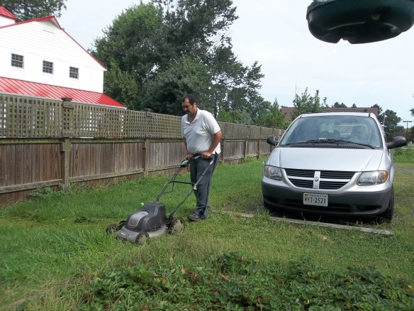 """There goes Zel zipping around cutting the grass!""- Matt"